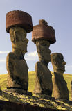 Easter Island in the South Pacific. Ancient Moai on remote Easter Island in the South Pacific. Easter Island is now a part of Chile stock photography