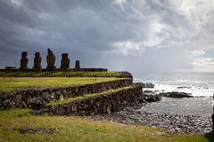 Easter Island statue Royalty Free Stock Images