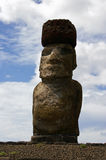 Easter Island Statue - Ahu Tongariki. Close up of a Moai (stone statue) at Ahu Tongariki on Easter Island stock photography