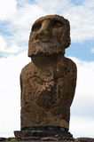 Easter Island Statue - Ahu Tongariki. Close up of a Moai (stone statue) at Ahu Tongariki on Easter Island stock image