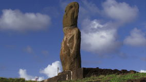Easter Island statue clouds moving. Easter Island statue clouds move in background stock footage