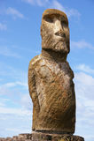 Easter Island Statue - Tongariki. Moai (stone statue) at Tongariki on Easter Island stock images
