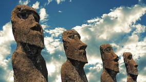 Easter Island Statues stock video footage