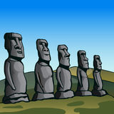 Easter Island. Stone idols. Stock Photos