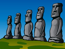 Easter Island. Stone idols. Royalty Free Stock Photos
