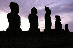 Easter Island Twilight Royalty Free Stock Images