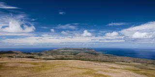 Easter Island -  view from the top of the volcano on the island Stock Photography