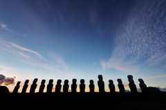 Easter Islands Moai. Taken in 2015 stock photo