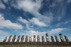 Easter Islands Moai. Taken in 2015 stock images