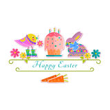 Easter isolated background Royalty Free Stock Images