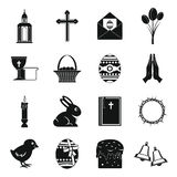 Easter items icons set, simple style Stock Image