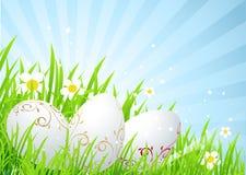 easter jajek łąki wiosna ilustracji