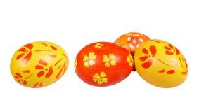 easter jajek czerwieni kolor żółty Zdjęcie Royalty Free