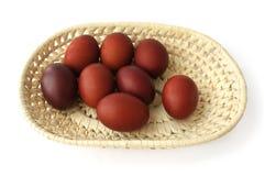 easter jajek czerwony tacy wicker Obrazy Royalty Free