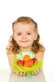easter jajek dziewczyna szczęśliwa Fotografia Stock