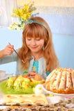 easter jajek dziewczyny obrazu potomstwa Obrazy Royalty Free