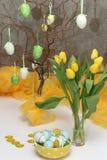 easter jajek kwiatów kolor żółty Fotografia Royalty Free