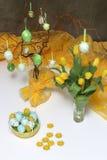 easter jajek kwiatów kolor żółty Fotografia Stock