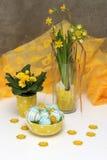 easter jajek kwiatów kolor żółty Zdjęcia Royalty Free