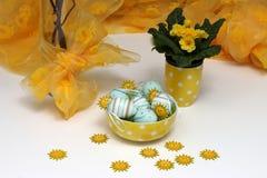 easter jajek kwiatów kolor żółty Obraz Stock