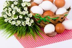 easter jajek kwiatów wiosna Obrazy Royalty Free