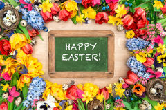 easter jajek kwiatów wiosna Tulipany, narcyz, hiacynt Obrazy Stock
