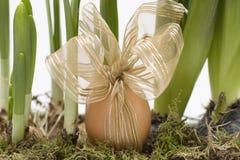 easter jajek kwiaty słomiani Fotografia Stock