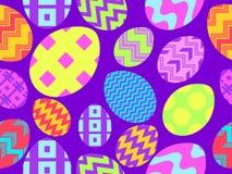 easter jajek wz?r bezszwowy Wielkanoc t?a szcz??liwy 3d amerykanina karty kolor?w wybuchu flaga powitania wakacje pisze list obyw ilustracja wektor