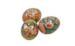 easter jajka odizolowywali biel trzy Obrazy Stock