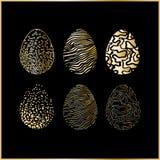 easter jajka ustawiają sześć Fotografia Stock