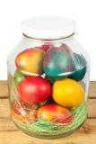 Easter jar eggs Royalty Free Stock Photos