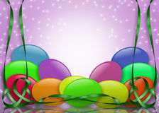 Easter Jelly Beans and Ribbons Royalty Free Stock Photo