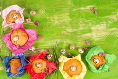 Easter kid food background Stock Image