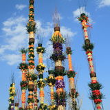 easter kolorowe palmy Poland Obrazy Stock