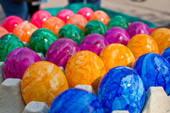 Easter kolorowi jajka Obrazy Stock