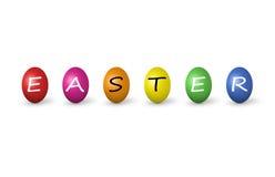 easter kolorowi jajka odizolowywali biel ilustracji