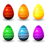 easter kolorowy set Fotografia Royalty Free