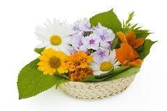 easter koszykowi kwiaty Obrazy Stock