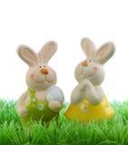 easter króliki dwa Zdjęcie Royalty Free