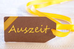 Easter Label, Auszeit Means Downtime Royalty Free Stock Photos