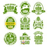 Easter label set royalty free illustration