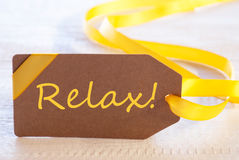 Easter Label, Text Relax Stock Photo