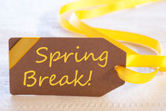 Easter Label, Text Spring Break Royalty Free Stock Photography