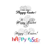 Easter Labels and Badges Stock Images