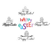 Easter Labels and Badges in Vintage Style Royalty Free Stock Photo