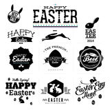 Easter labels Stock Photos