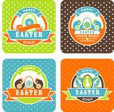 Easter labels Stock Images