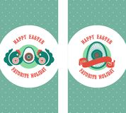 Easter labels Stock Photography