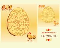 easter labirynt Pomaga małych kurczaki ilustracji