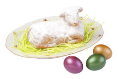 Easter Lamb Cake Stock Photo
